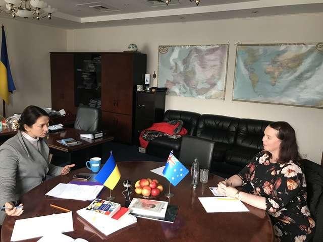 Голова Комітету у закордонних справах Ганна Гопко провела зустріч з новопризначеним Надзвичайним і Повноважним Послом Австралії в Україні Меліссою О'Рурк